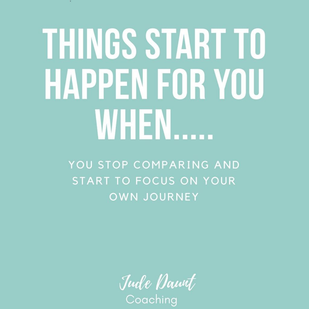 Stop comparing and start doing