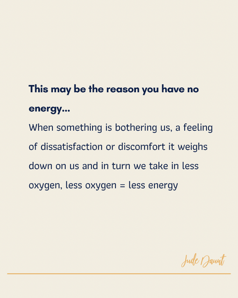 I don't have enough energy