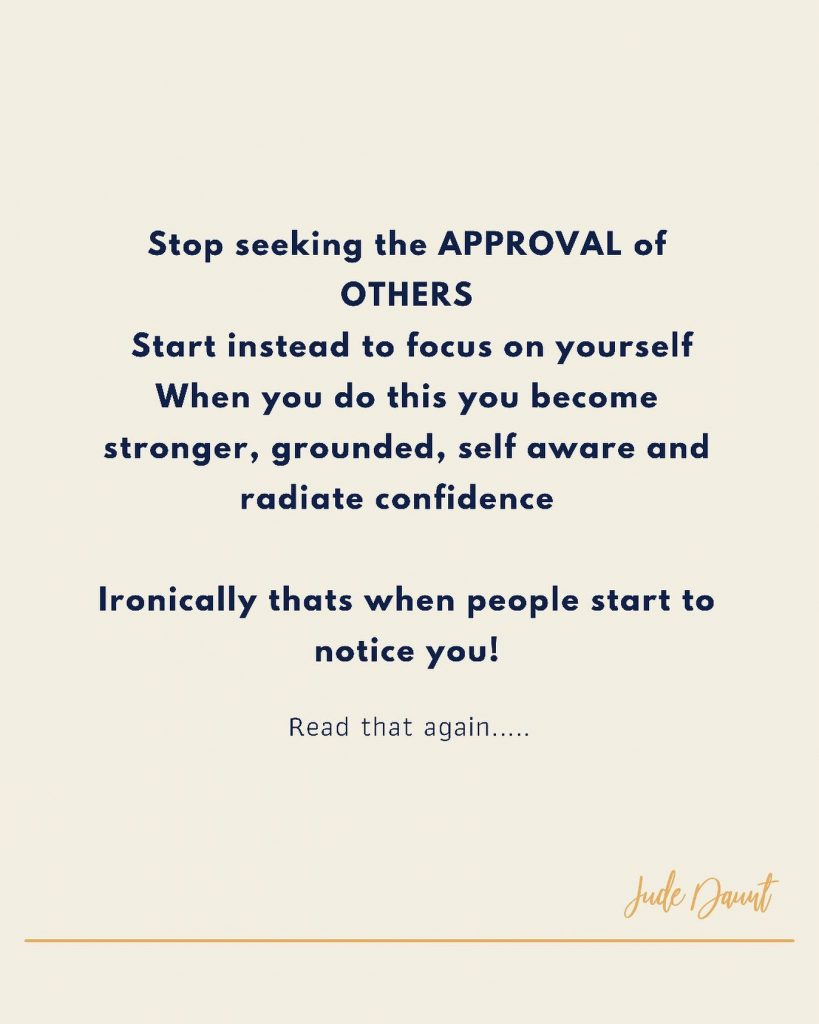 Seeking approval of others